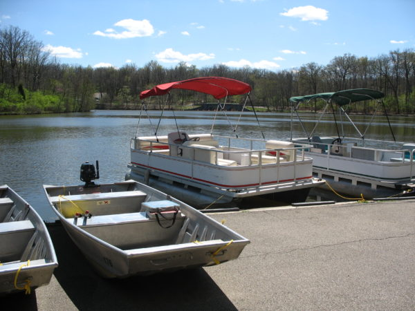 Rent boats at the Sharon Woods Boathouse