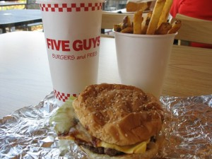 five guys west chester burger and fries