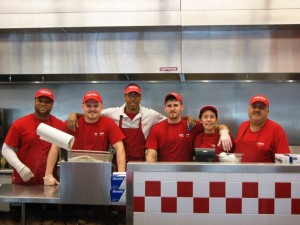 five guys staff