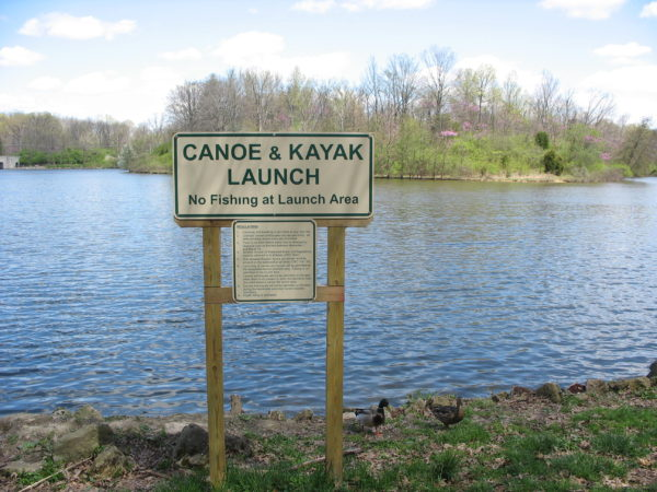 Canoe and Kayak Launch Dock at Sharon Woods
