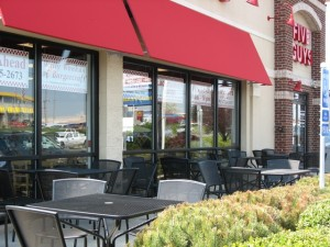 patio seating five guys west chester