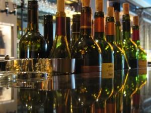 wine bottles at the wine loft