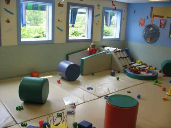 toddlers play area at totter's otterville