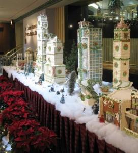 gingerbread city christmas display hilton cincinnati