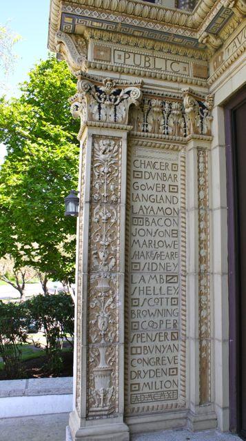 rookwood tile at Carnegie library cincinnati