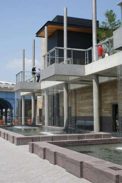 water features at Smale Riverfront Park