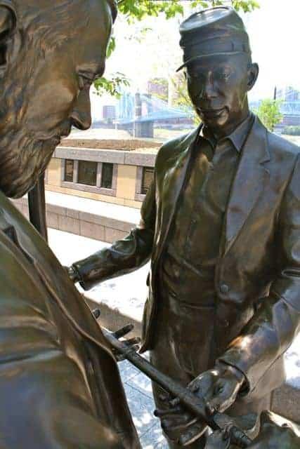 black brigade statue smale riverfront park