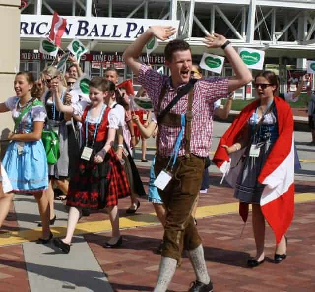 world choir games parade - austria