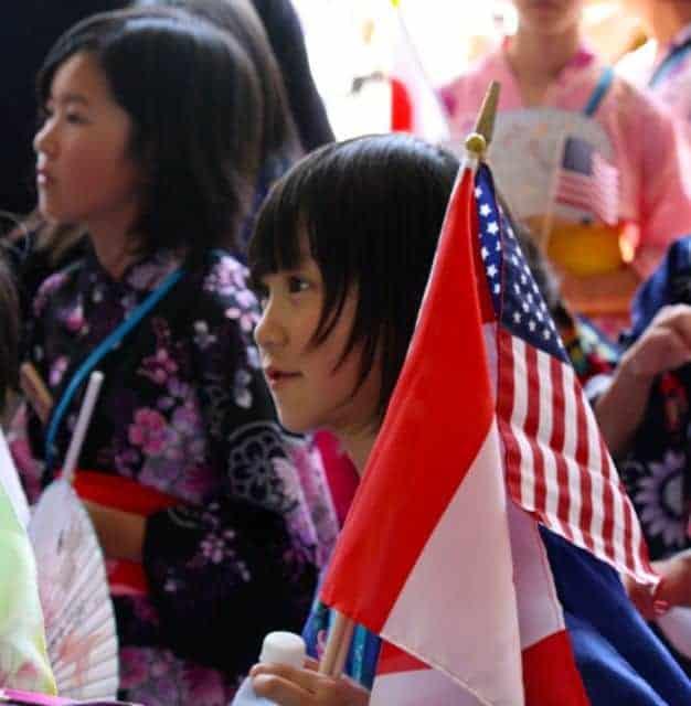 world choir games parade - flags