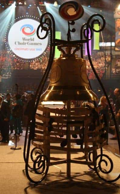 world choir games opening ceremonies - peace bell
