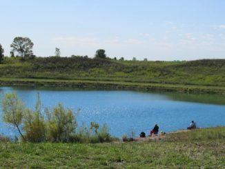 lake at voice of america park mason ohio