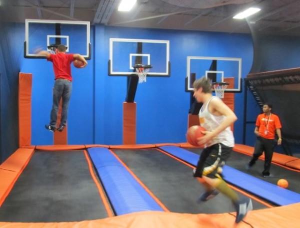basketball at Sky Zone