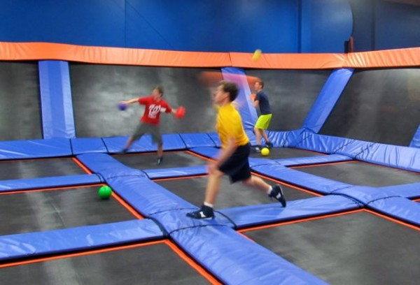 dodge ball at Sky Zone