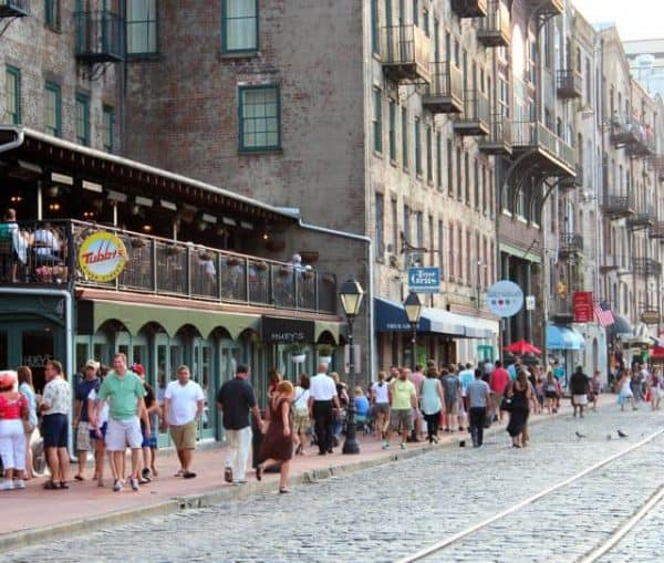 riverfront in Savannah Georgia