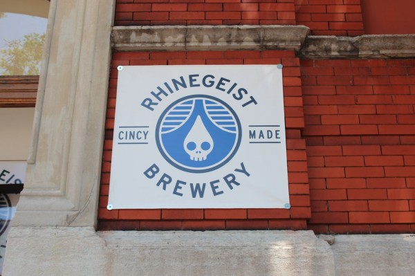 the sign outside the Rhinegeist brewery