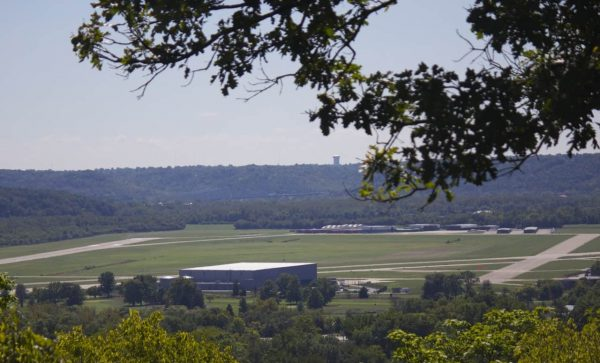 Lunken Airport as seen from the overlook at Ault Park