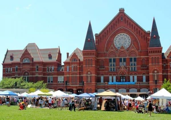 City Flea in front of Music Hall