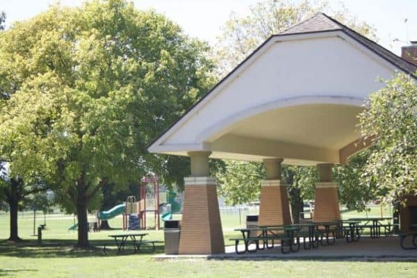 Lunken Airport covered picnic grove and playground