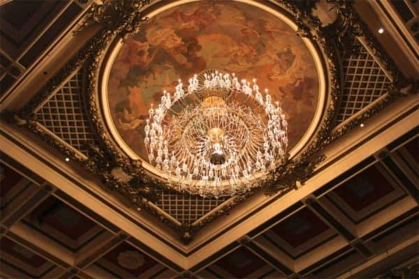 Music Hall chandelier in Cincinnati