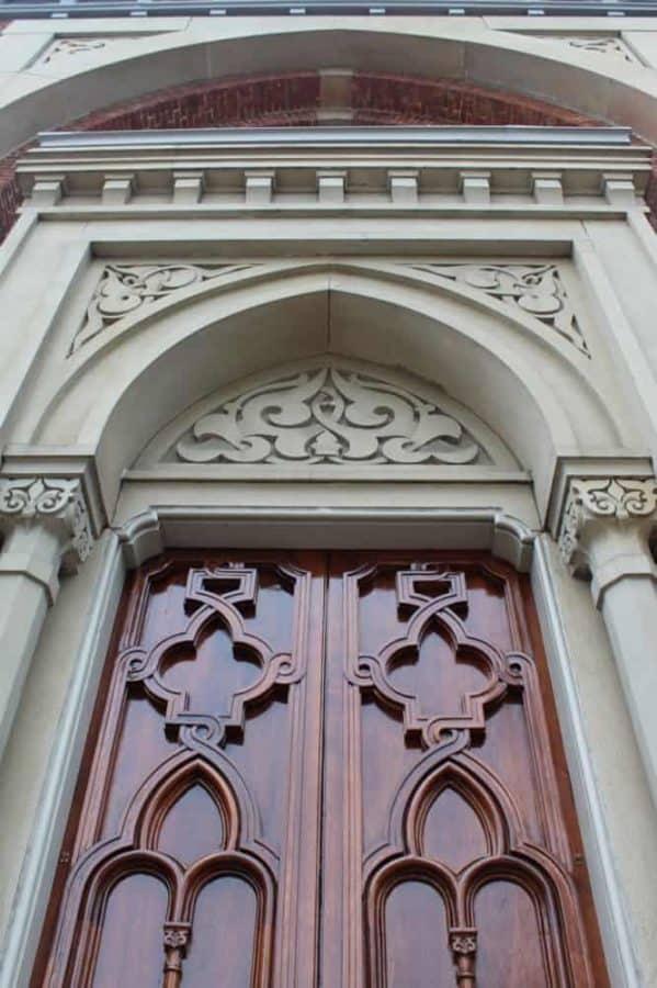 doors at the Plum Street Temple in Cincinnati