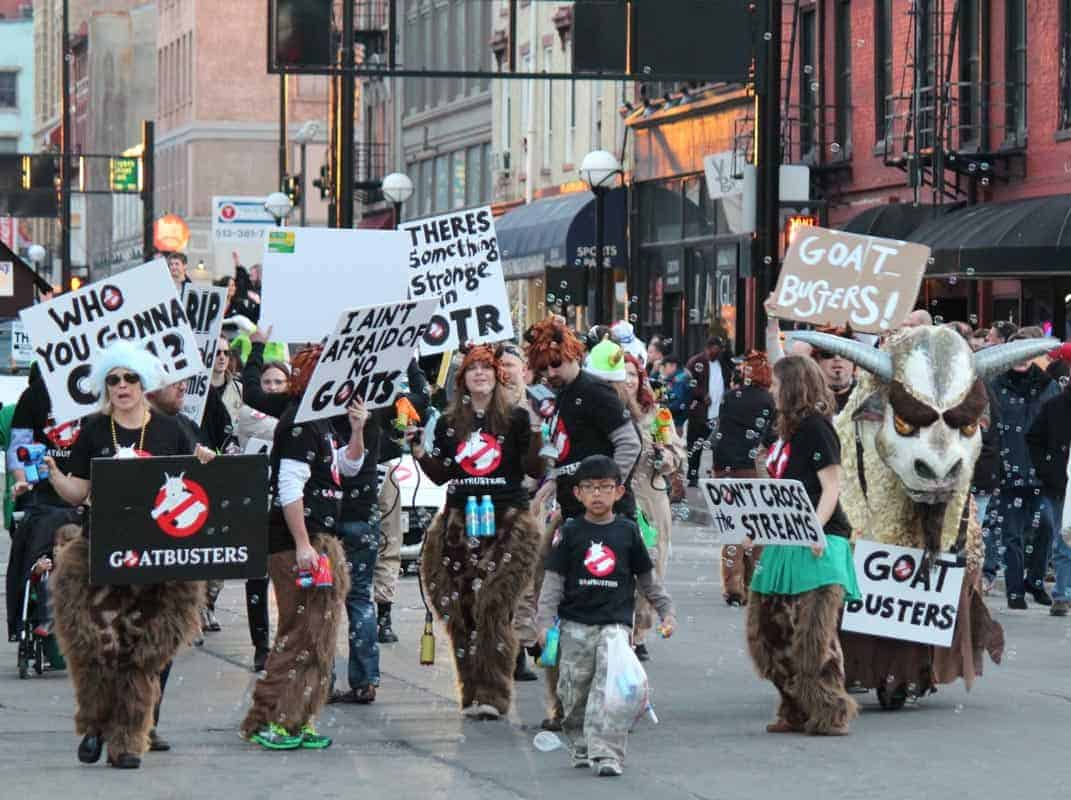 goatbusters group in the bockfest parade