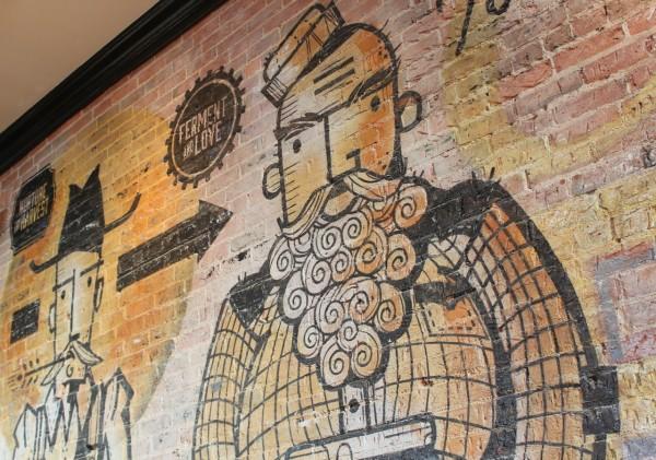 Close up of Wall Art at HalfCut in OTR