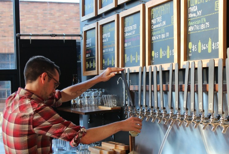 Number beer taps at Half Cut OTR