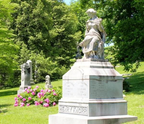 spring grove cemetery in the spring