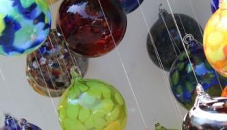 glass ornaments at Summerfair 2014