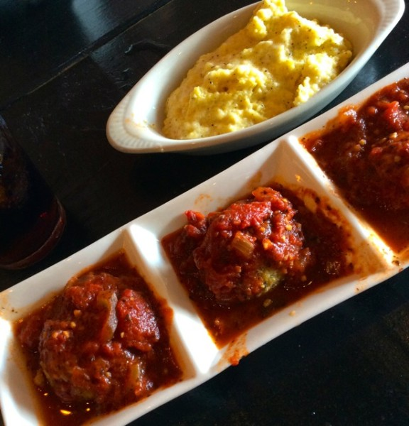meatballs at Packhouse Meats in Newport
