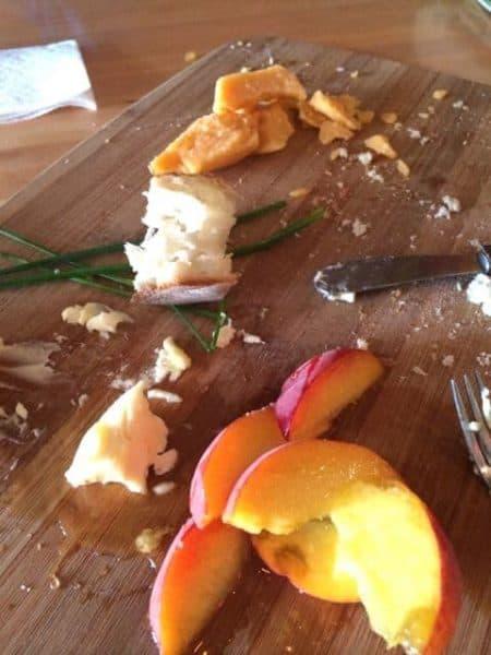 cheese tray at Jane Barleycorn's