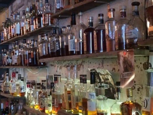 bourbon bar at Jane Barleycorn's