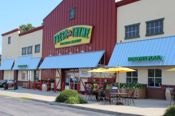 front of Fresh Thyme Farmers Market in Oakley