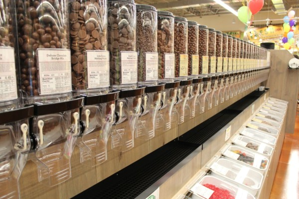 bulk nuts at Fresh Thyme Farmers Market in Oakley