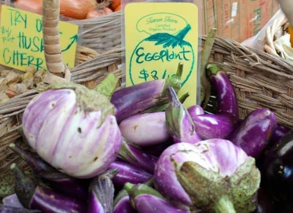 fresh eggplant at Findlay Market