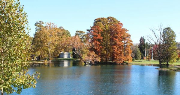 The lake at Spring Grove Cemetery Fall 2014