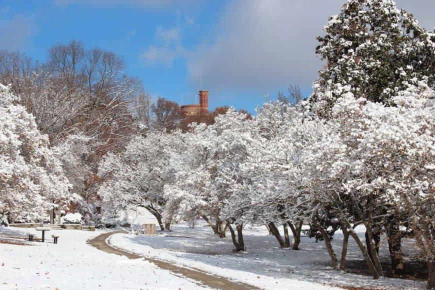 snow in eden park cincinnati ohio
