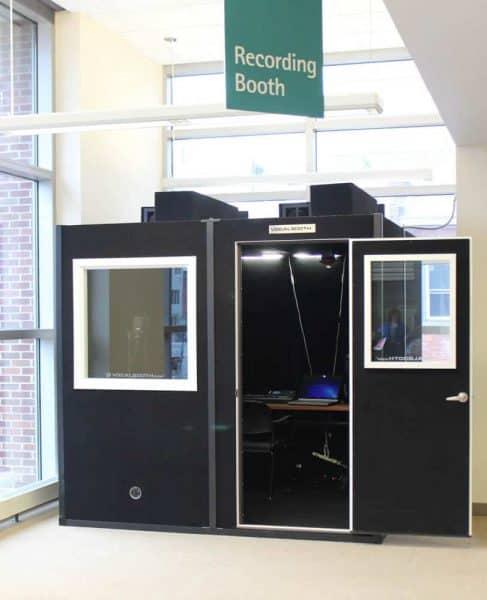 Sound Recording Booth at MakerSpace in Cincinnati Ohio