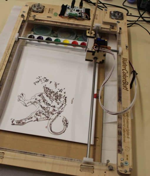 Watercolor Painting at MakerSpace in Cincinnati