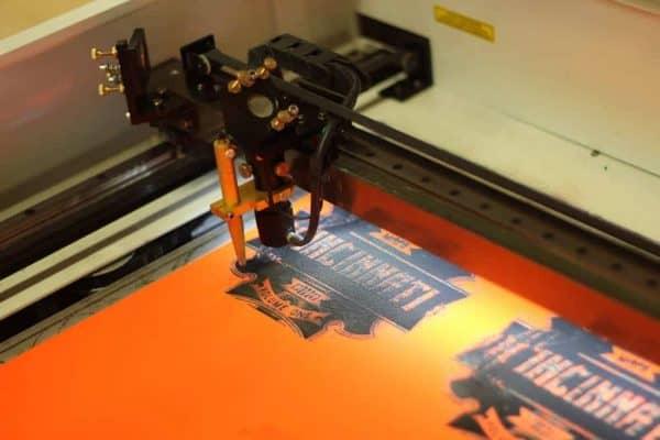 laser cutter at the MakerSpace in Cincinnati