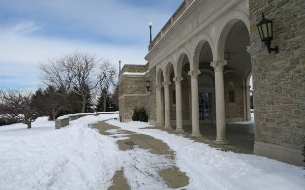 Ault Park in the snow