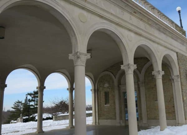 Ault Park arches in the snow