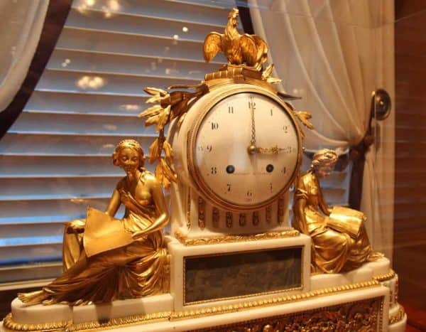 golden clock at the Taft Museum of Art