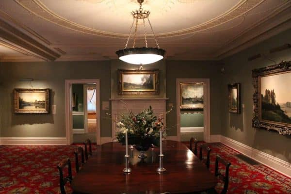 The dining room at the Taft Museum of Art