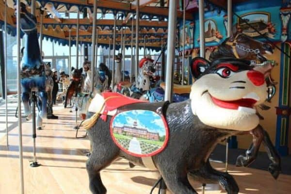 Bearcats at the Carousel in Cincinnati