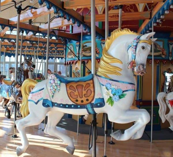Bubbles the Horse at Carol Ann's Carousel