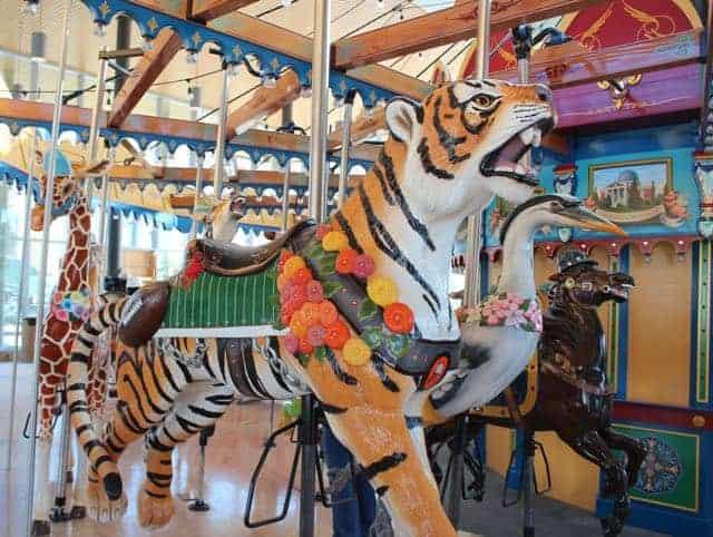 Bengals Tiger on the Carousel at Smale Riverfront Park
