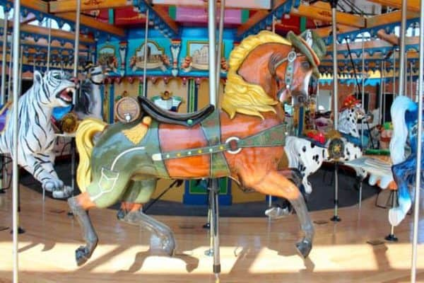 Oktoberfest Horse on the Carousel in Cincinnati