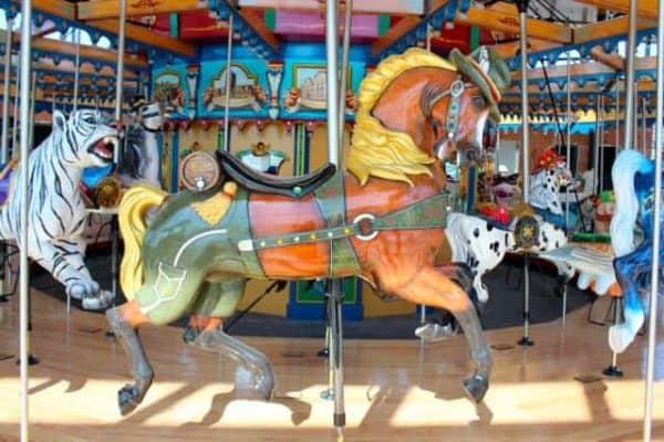Oktoberfest Horse on the Carousel in Cincinnati