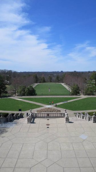 Fields at Ault Park taken from the Pavilion